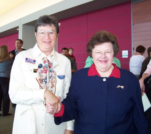 Mona White with Sen. Barbara Mikulski