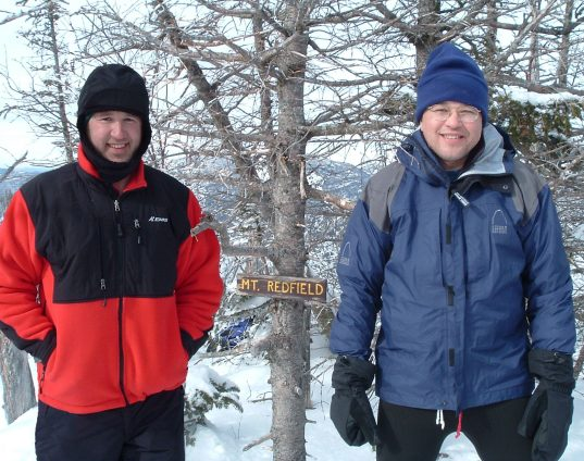 David White and Sam White on Mt. Redfield